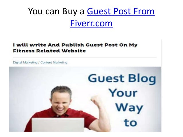 Quality Guest post service from fiverr com