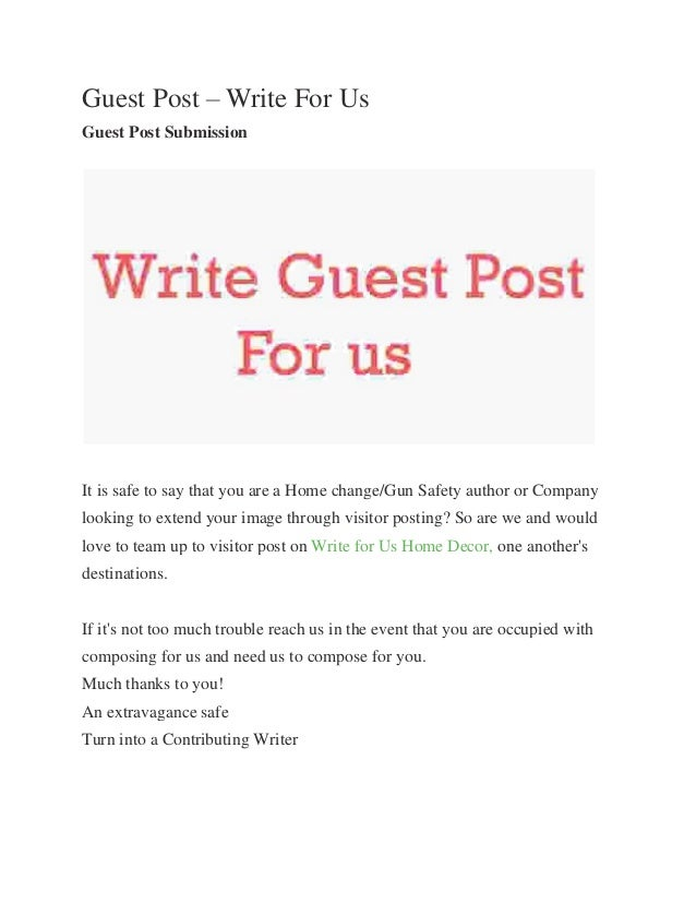 Guest Post – Write For Us