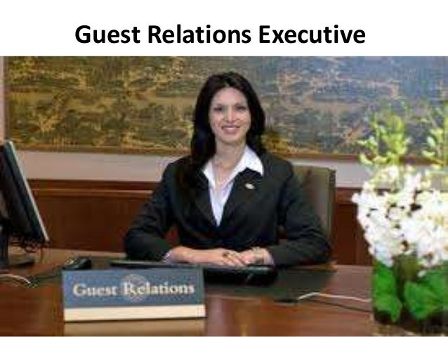 guest relations executive ppt