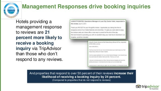 how to respond to management response on tripadvisor