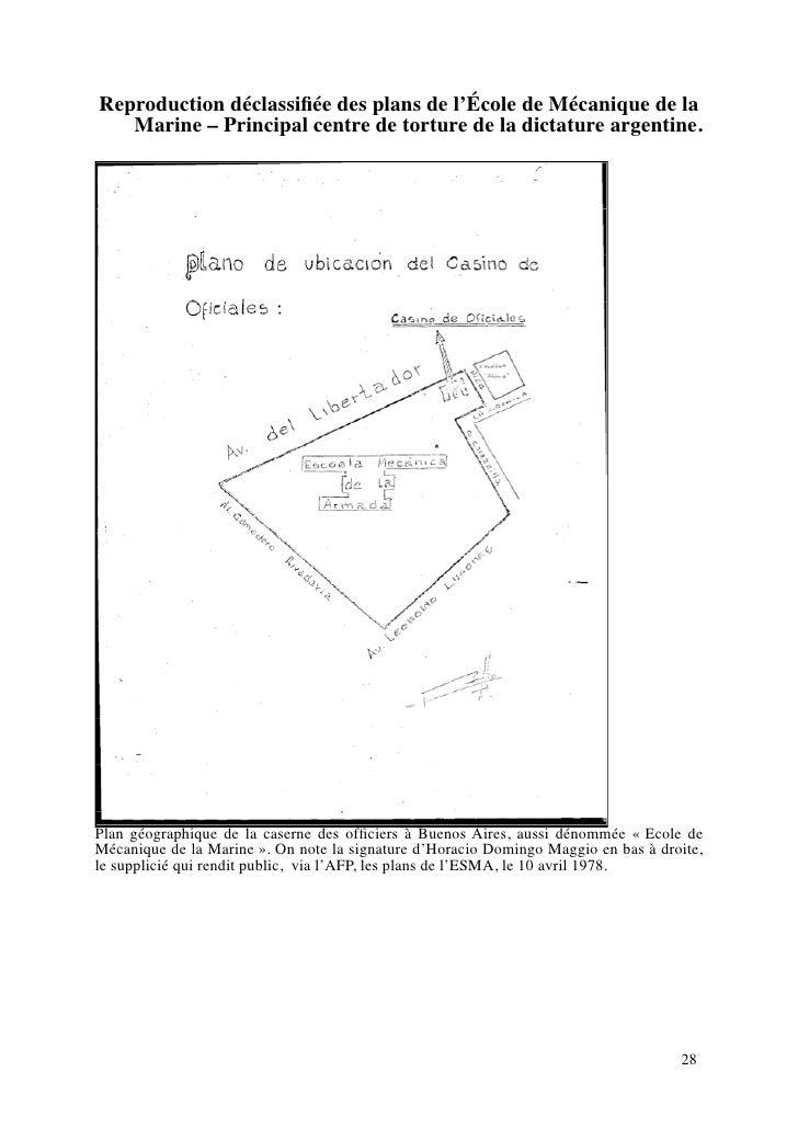 Reproduction déclassifiée des plans de l'École de Mécanique de la    Marine – Principal centre de torture de la dictature a...