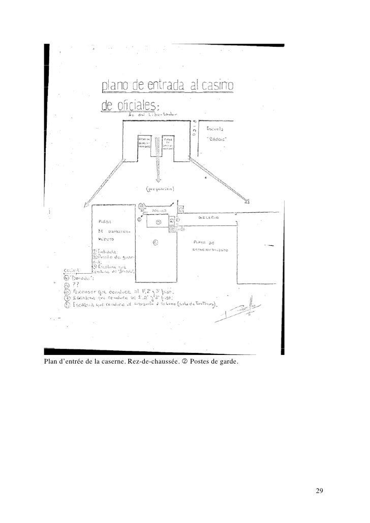 Plan d'entrée de la caserne. Rez-de-chaussée. 2 Postes de garde.                                                          ...