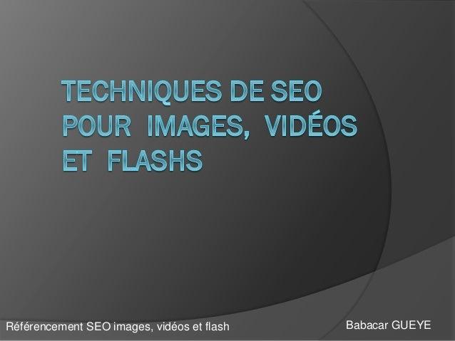 Babacar GUEYERéférencement SEO images, vidéos et flash