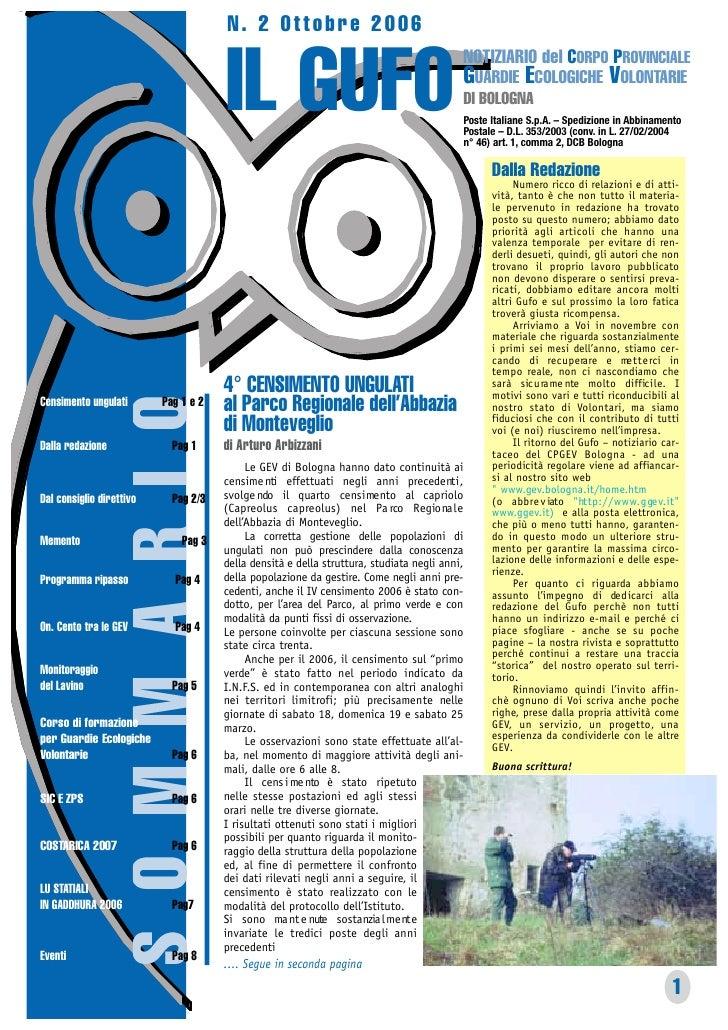 N. 2 Ottobre 2006                                         IL GUFO                                                         ...
