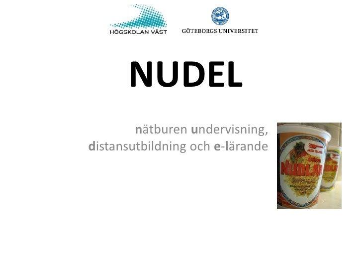 NUDEL        nätburen undervisning,distansutbildning och e-lärande
