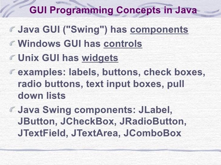 Java: GUI