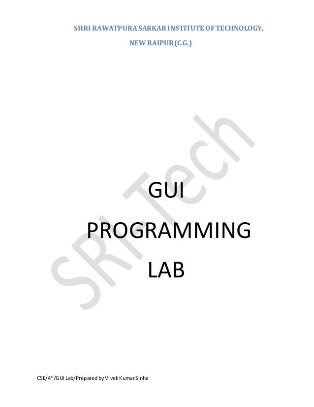 Graphics User Interface Lab Manual