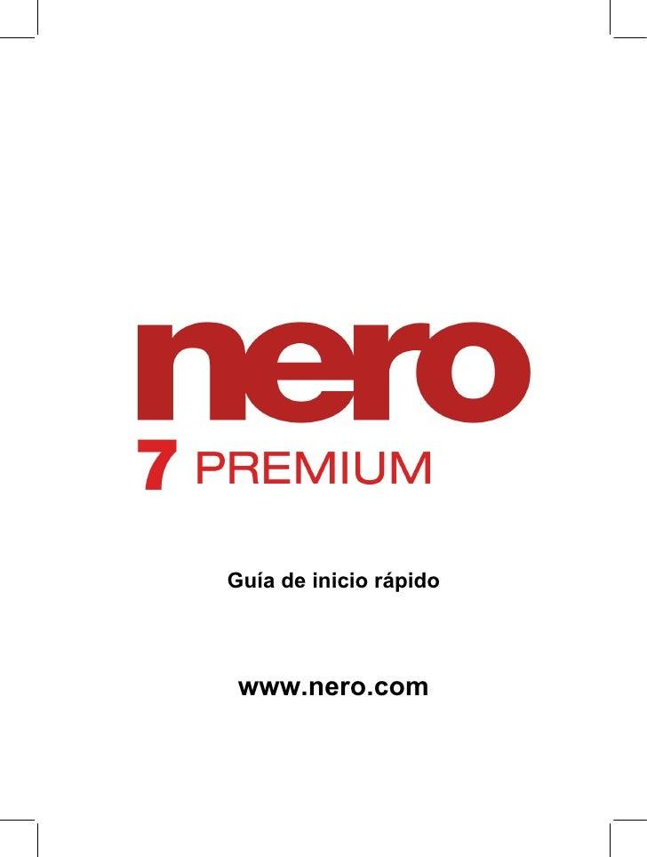 Guía de inicio rápido     www.nero.com