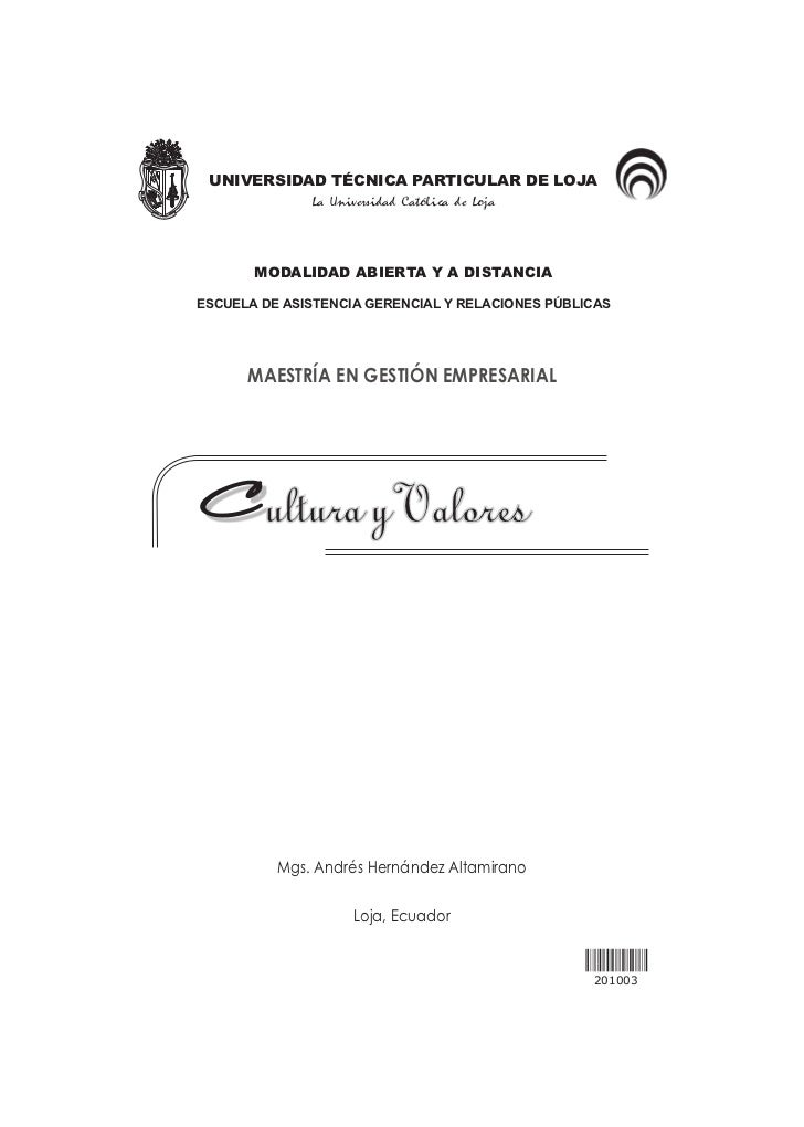 UNIVERSIDAD TÉCNICA PARTICULAR DE LOJA              La Universidad Católica de Loja       MODALIDAD ABIERTA Y A DISTANCIAE...