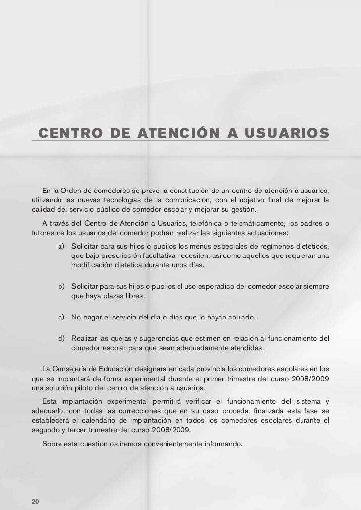 Guia comedores JUNTA DE CASTILLA Y LEON