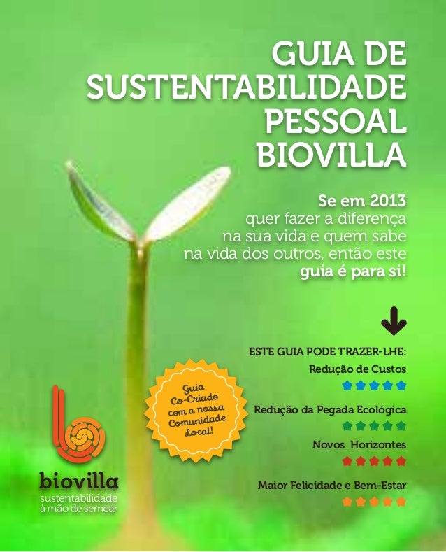 Guia deSustentabilidade        Pessoal        Biovilla                         Se em 2013               quer fazer a difer...