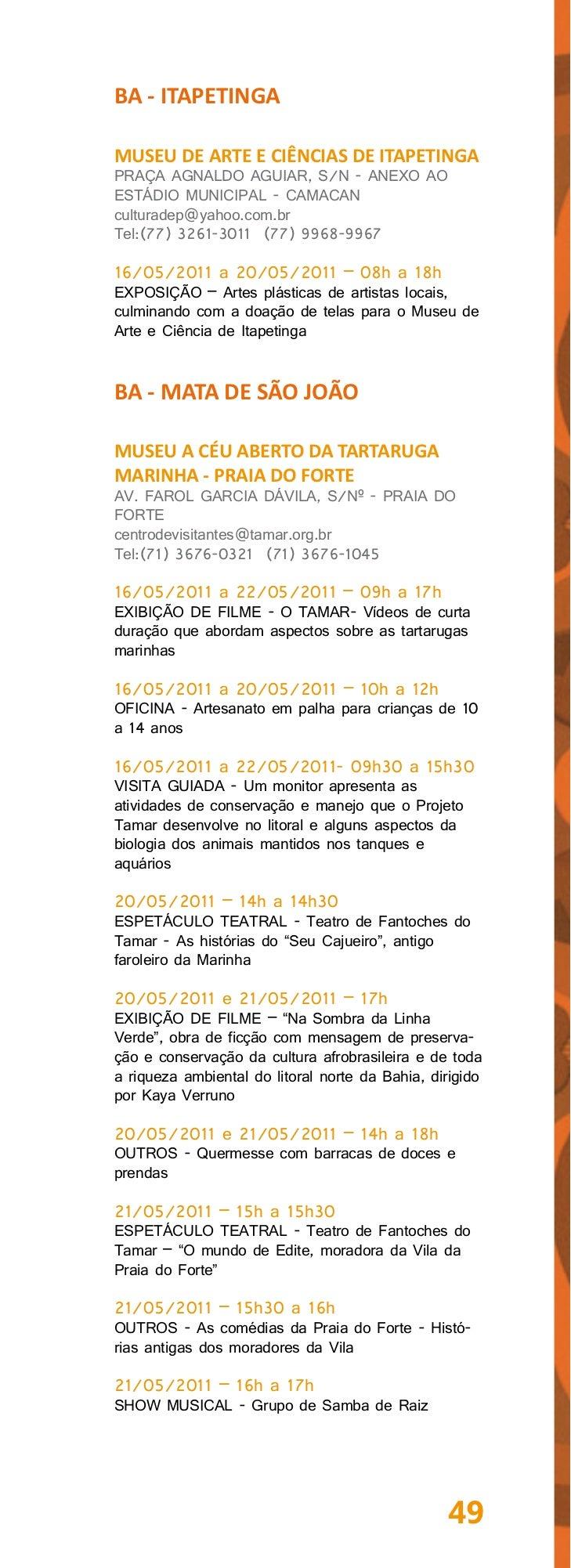 BA - REMANSOMUSEU DO SERTÃO ANTÔNIO COELHORUA CEL. FRANCISCO LEOBAS, SN - QUADRA 10museudosertaoderemanso@gmail.comTel:(74...