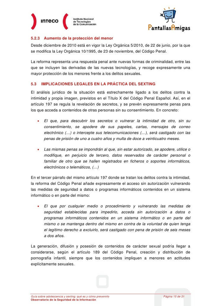 5.2.3      Aumento de la protección del menorDesde diciembre de 2010 está en vigor la Ley Orgánica 5/2010, de 22 de junio,...