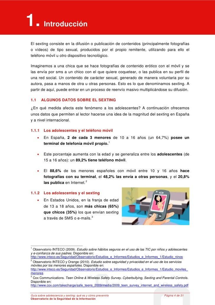 1. Introducción 1     Introducción El sexting consiste en la difusión o publicación de contenidos (principalmente fotograf...