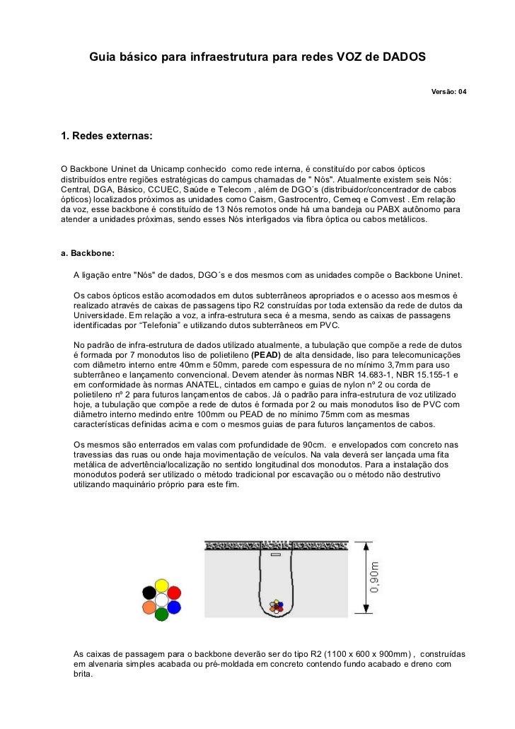 Guia básico para infraestrutura para redes VOZ de DADOS                                                                   ...