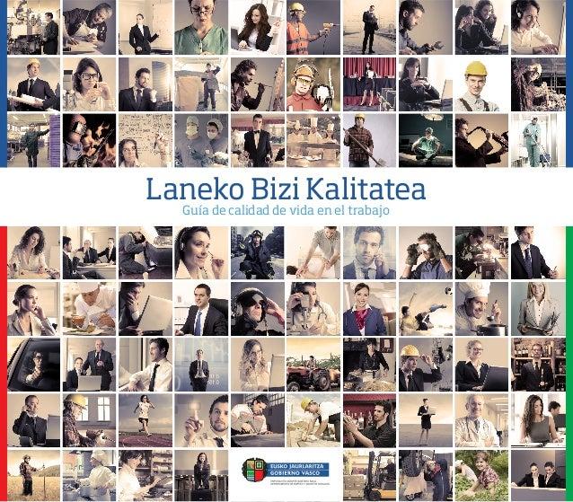Laneko Bizi Kalitatea  Guía de calidad de vida en el trabajo