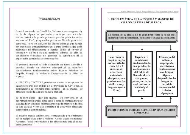 Buenas Prácticas de Esquila, Manejo de Vellón y Categorización de Fibra de Alpaca5I. PROBLEMÁTICA EN LA ESQUILA Y MANEJO D...