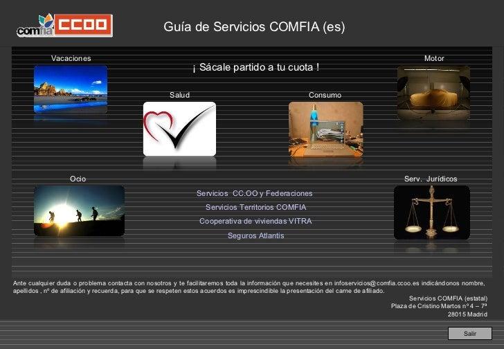 Guía de Servicios COMFIA (est.)               Vacaciones                                                                  ...