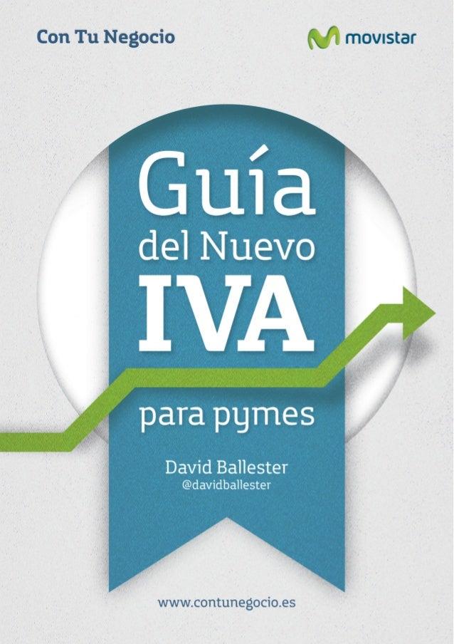 Guía del nuevo IVA para pymes                   David Ballester