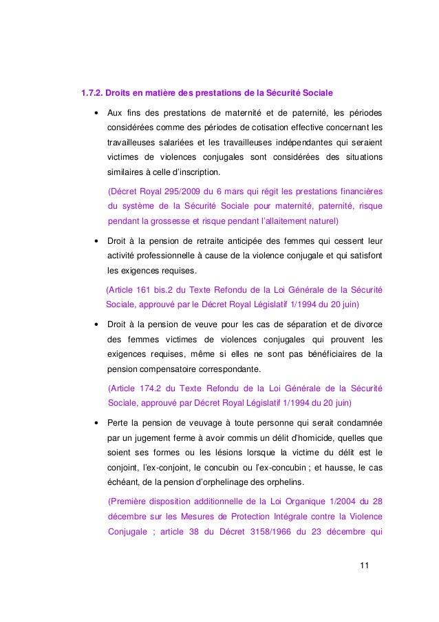 1.7.2. Droits en matière des prestations de la Sécurité Sociale   •   Aux fins des prestations de maternité et de paternit...