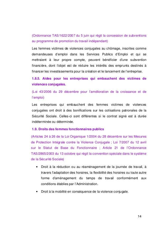 (Ordonnance TAS/1622/2007 du 5 juin qui régit la concession de subventionsau programme de promotion du travail indépendant...