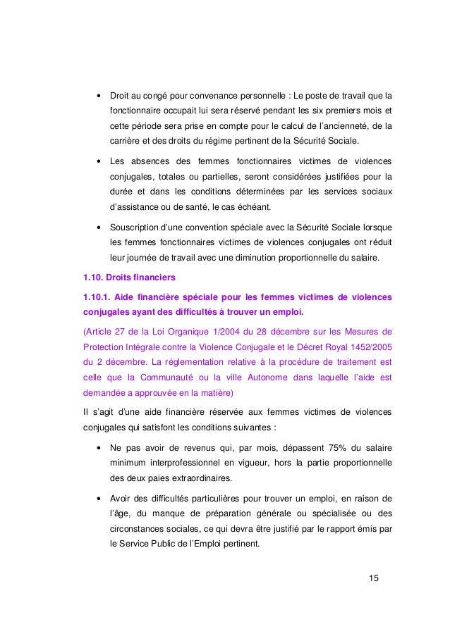 •   Droit au congé pour convenance personnelle : Le poste de travail que la       fonctionnaire occupait lui sera réservé ...