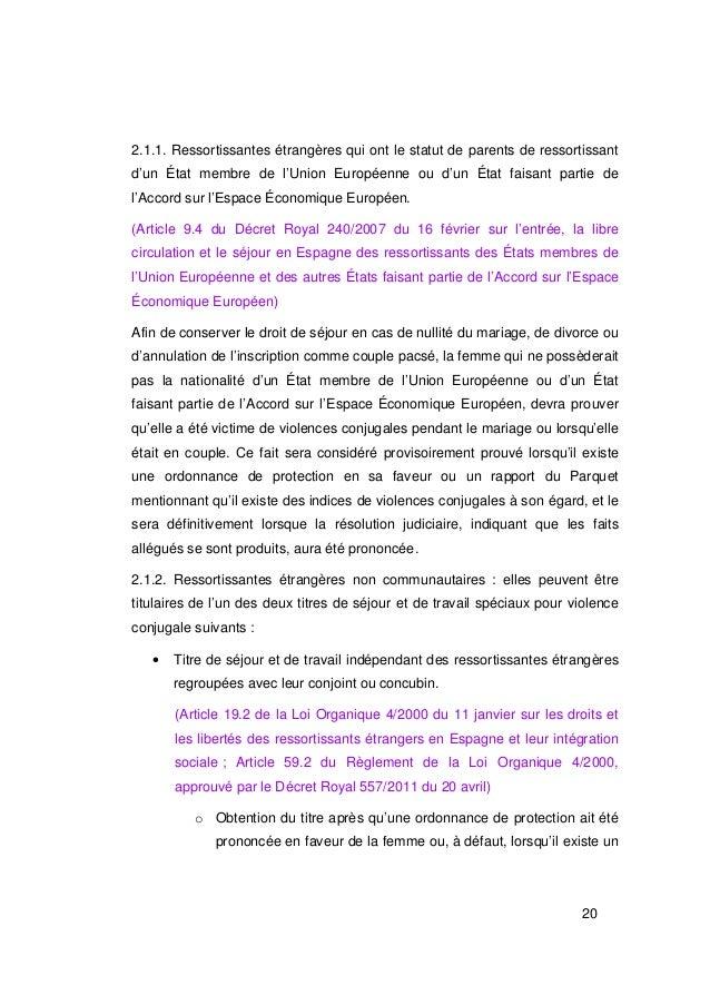 2.1.1. Ressortissantes étrangères qui ont le statut de parents de ressortissantd'un État membre de l'Union Européenne ou d...
