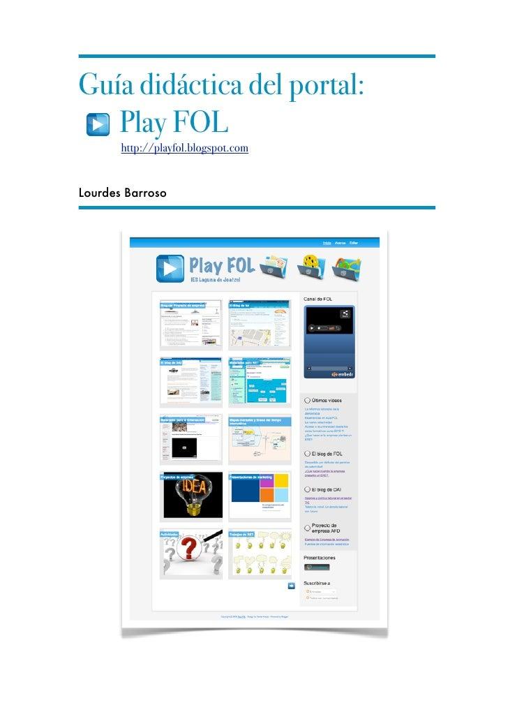 Guia didactica del blog Play FOL