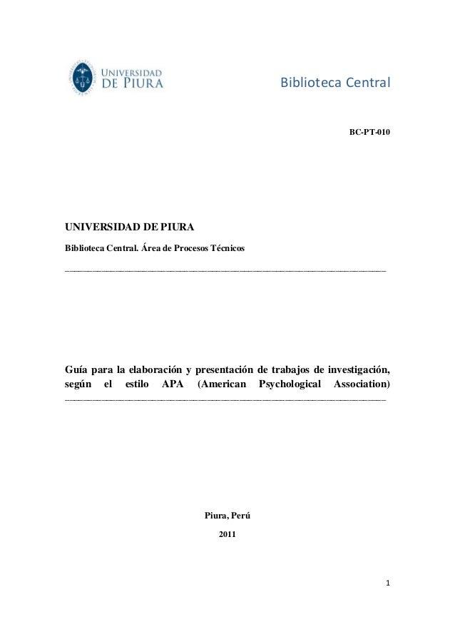 Biblioteca Central                                                              BC-PT-010UNIVERSIDAD DE PIURABiblioteca Ce...