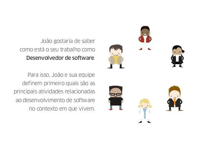 João gostaria de saber como está o seu trabalho como Desenvolvedor de software. Para isso, João e sua equipe definem prime...