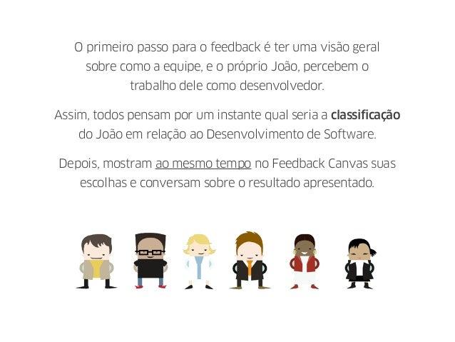 O primeiro passo para o feedback é ter uma visão geral sobre como a equipe, e o próprio João, percebem o trabalho dele com...