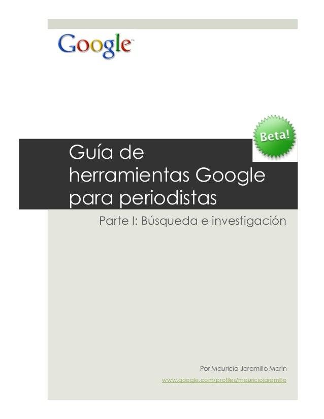 Guia de herramientas Google para Periodistas