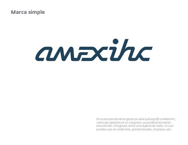 Manual de Identidad Visual para AmexIHC: Asociación
