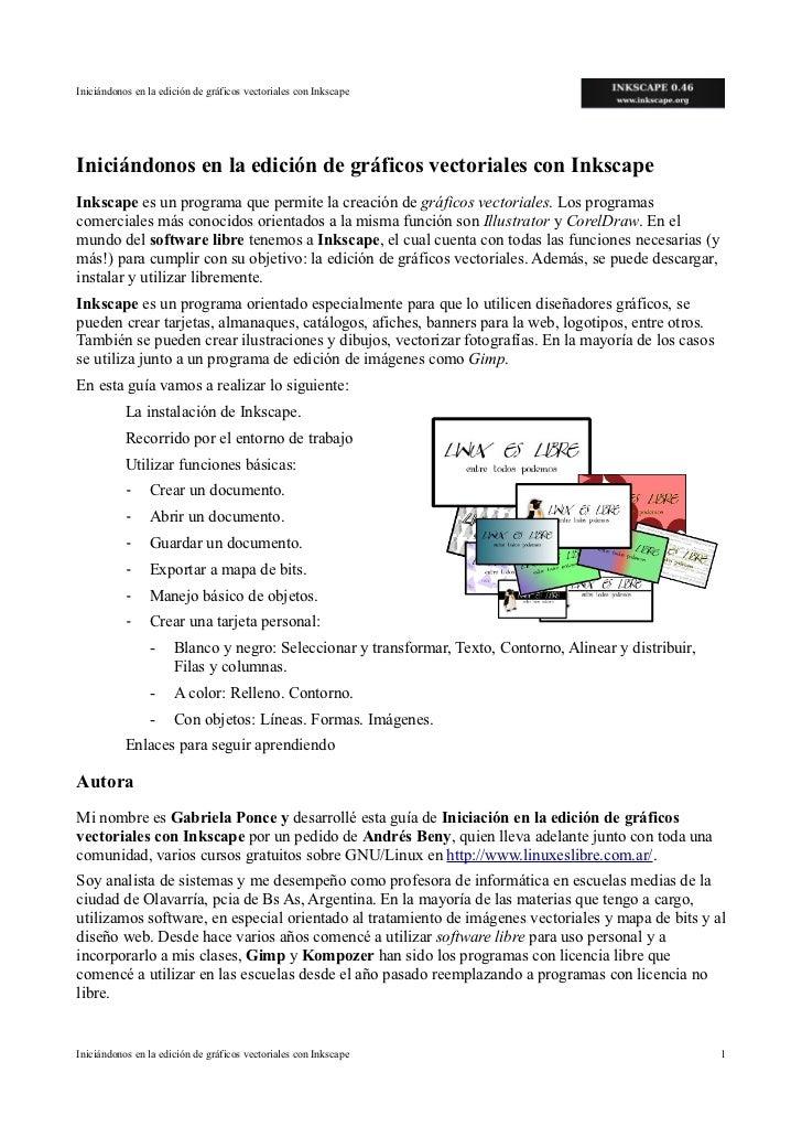 Iniciándonos en la edición de gráficos vectoriales con InkscapeIniciándonos en la edición de gráficos vectoriales con Inks...