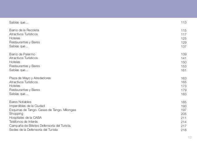 Sabías que...  113  Barrio de la Recoleta Atractivos Turísticos Hoteles Restaurantes y Bares Sabías que...  115 117 125 12...