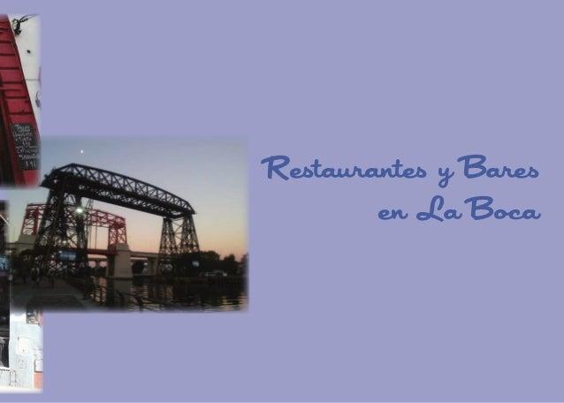Restaurantes y Bares en La Boca  33