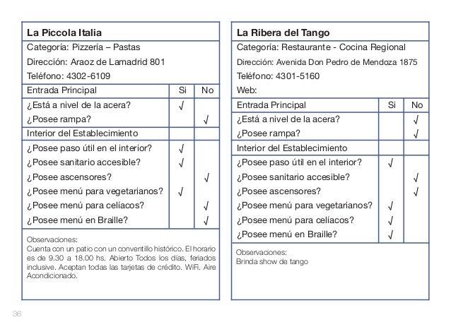 La Piccola Italia  La Ribera del Tango  Categoría: Pizzería – Pastas  Categoría: Restaurante - Cocina Regional  Dirección:...