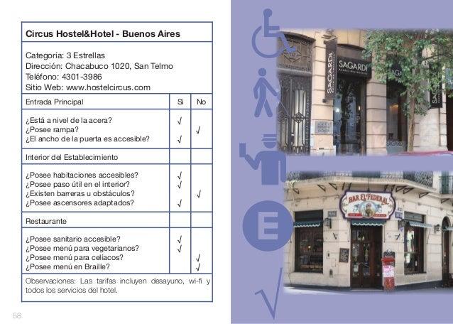 Circus Hostel&Hotel - Buenos Aires Categoría: 3 Estrellas Dirección: Chacabuco 1020, San Telmo Teléfono: 4301-3986 Sitio ...