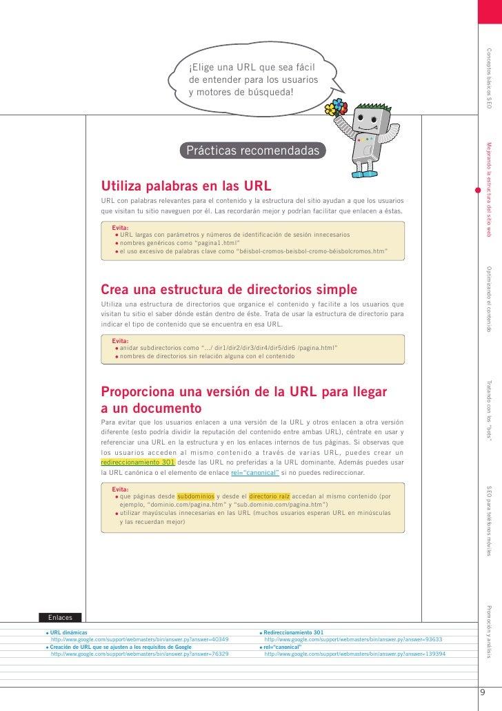 Conceptos básicos SEO                                                    ¡Elige una URL que sea fácil                     ...