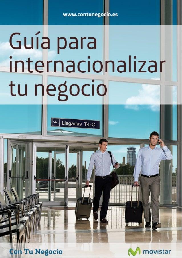 Guía para internacionalizar tu negocio   . ,           o Tu Negocio