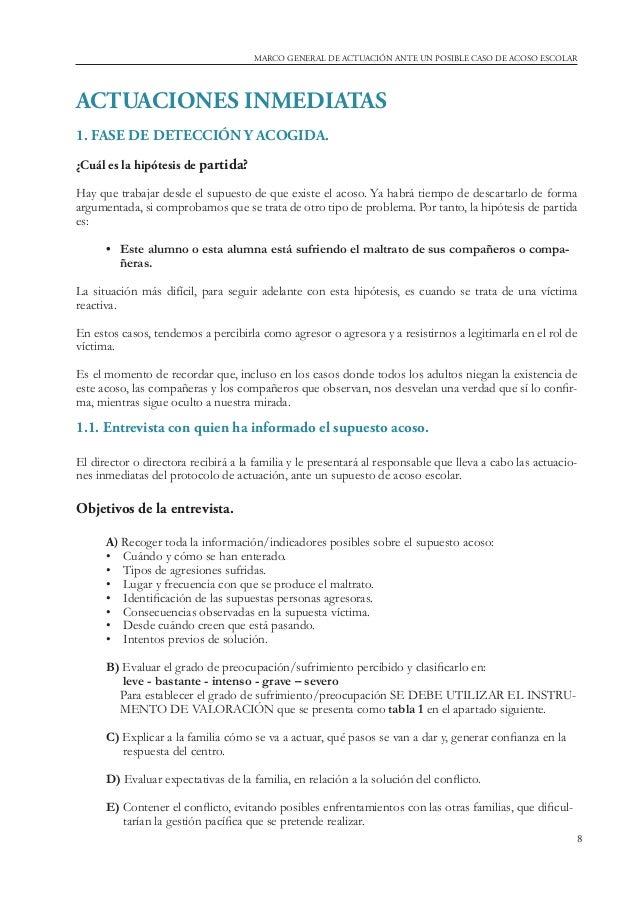 Guía para Profesorado - Marco general de actuación Acoso Escolar