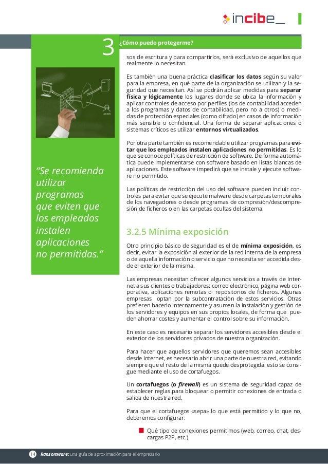 14 Ransomware: una guía de aproximación para el empresario sos de escritura y para compartirlos, será exclusivo de aquell...