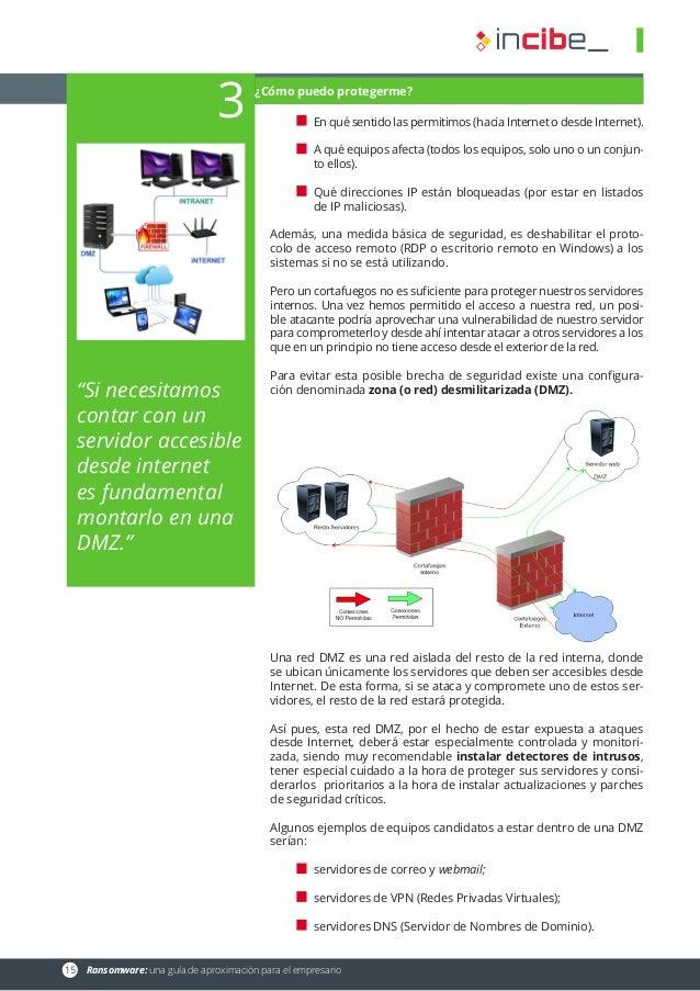 15 Ransomware: una guía de aproximación para el empresario En qué sentido las permitimos (hacia Internet o desde Internet...