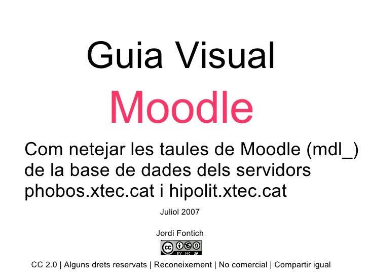 Guia Visual Moodle Com netejar les taules de Moodle (mdl_) de la base de dades dels servidors phobos.xtec.cat i hipolit.xt...