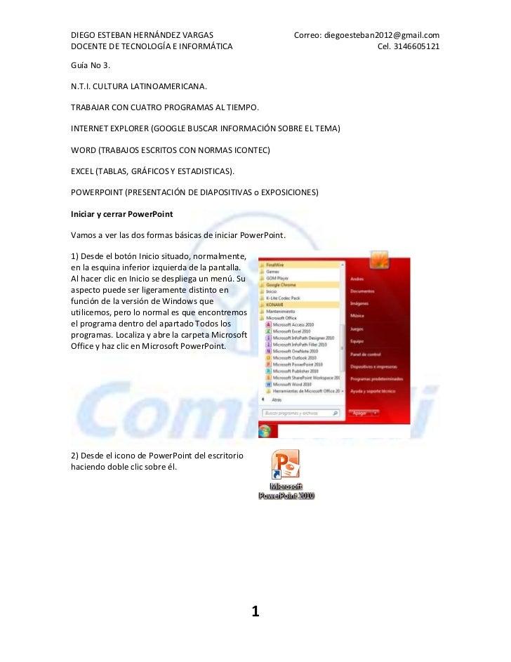 DIEGO ESTEBAN HERNÁNDEZ VARGAS                              Correo: diegoesteban2012@gmail.comDOCENTE DE TECNOLOGÍA E INFO...