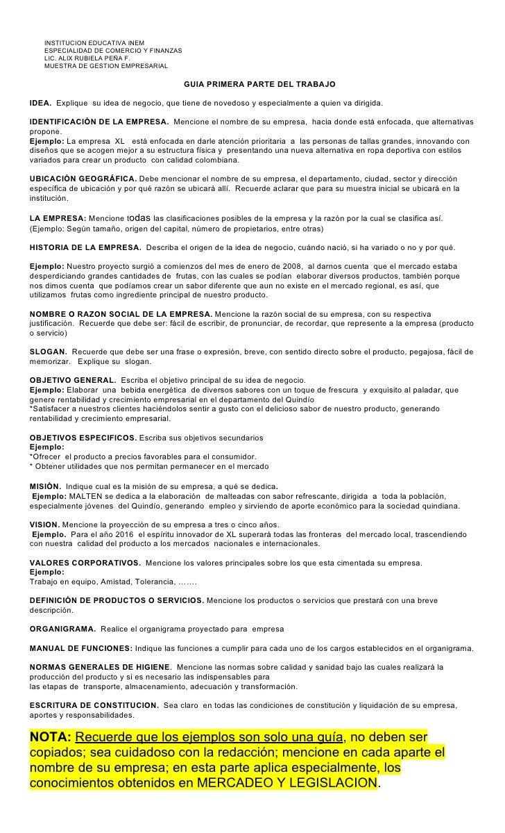 GUIA 1. MUESTRA EMPRESARIAL INEM