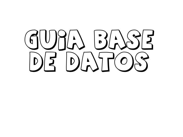 Guia base de datos<br />