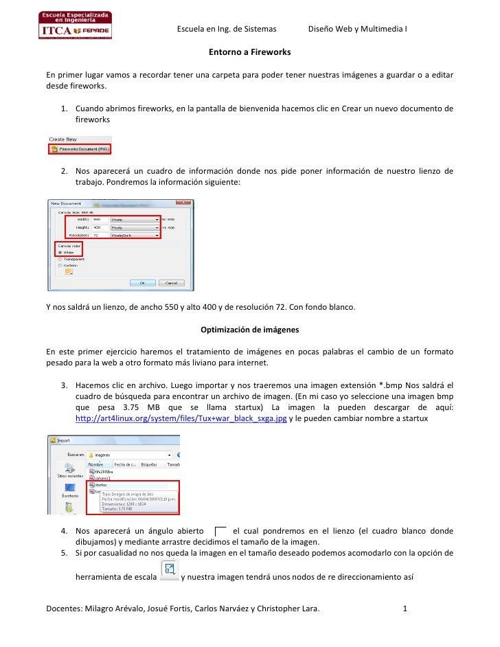 Escuela en Ing. de Sistemas         Diseño Web y Multimedia I                                              Entorno a Firew...