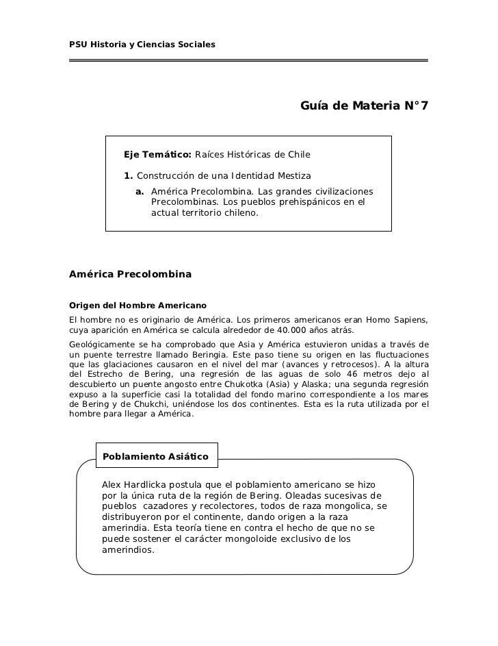 PSU Historia y Ciencias Sociales                                                       Guía de Materia N°7             Eje...