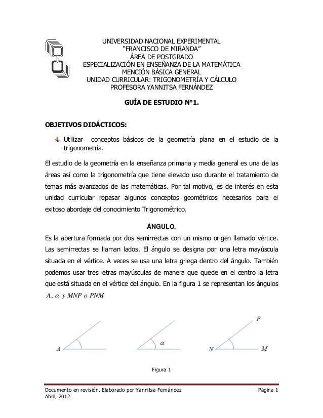 """UNIVERSIDAD NACIONAL EXPERIMENTAL  """"FRANCISCO DE MIRANDA""""  ÁREA DE POSTGRADO  ESPECIALIZACIÓN EN ENSEÑANZA DE LA MATEMÁTIC..."""